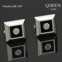 Newest classical France popular design titanium steel men cufflinks unique design Cuff Links surprise gift QR-280