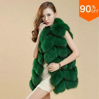 New Fashion high quality fox fur vest fur coat female finland fox fur waistcoat high quality racoon fur overcoat luxury outwear
