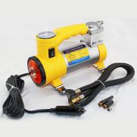 Vaporised pump car metal inflatable pump with light air compressors car tyre vaporised pump