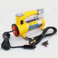 Vaporised pump car metal inflatable pump with light air compressors car tyre vaporised pump