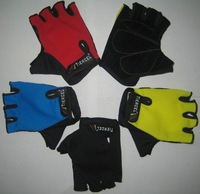 50pairs/Lots New Sports Cycle glove Riding Gloves sport gloves fingerless gloves half finger  bicycle Four Color--EMS FREE