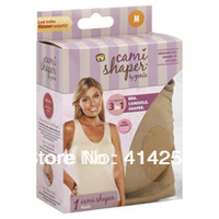 Free Shipping  Cami shaper by Genie with Removable Pads Look Thinner Instantly the Ultimate 3 in 1 Garment 3 Color 6 Size