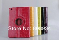 Crocodile PU Leather Case Cover 360 Degrees Rotating Stand for iPad air 5th
