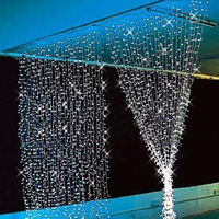 220V 8M x4M 1024 LED  Outdoor Color Curtain Light Party Christmas tree Decoration String Fair Wedding/Festival Free Shipping