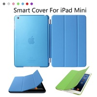 New Arrival Smart Cover For iPad Mini , High Grade PU Leather with Magnetic Folding Stand Case For iPad Mini