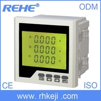 Digital three phase amp  led electrical ammeter meter