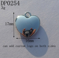 17mm Vintage High Quality Smooth Silver Tone Alloy Heart Charms,DIY Jewelry Bracelet Accessories,Free Shipping 50pcs/lot