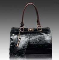 Promotion Women leather handbag new 2014 brand Genuine Leather handbag large lady fashion messenger shoulder bag free shipping
