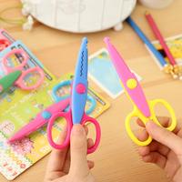 6 pcs/lot  laciness style craft scissors/Korea creative DIY paper scissor/Fashion stationery / school student safe scissors