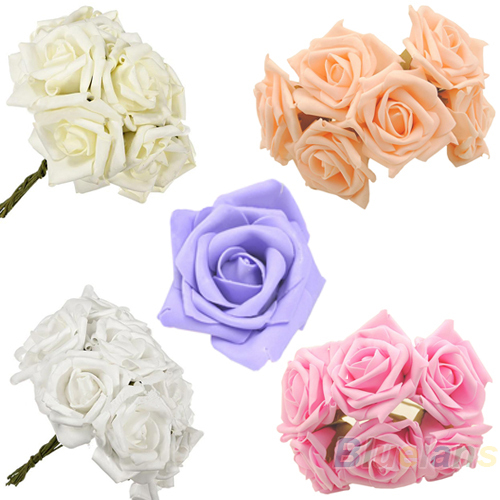 10pcs/set Beauty Bridal Bouquet Rose Flower Head Hand Party Wedding Bridesmaid Decoration Posy Latex(China (Mainland))
