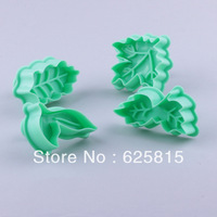 New 2014 4pcs /Set Different Shapes Leaves Cookies Mold Cutter Tools At Random Color 60-445
