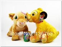Free shipping children/kid/baby pp cotton Stuffed plush Toy christmas gift doll Lion King Simba 2pcs/lot 30cm