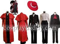 Hellsing Alucard Cosplay Costume Set Vampire Hunter
