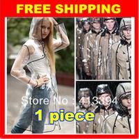 Hot Sale 2013 Sexy Clear Fashion Runway Style transparent Rain Coat Women Girls Waterproof Jacket Raincoat Regenmantel