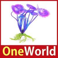 [One World] Purple Artificial Plastic Underwater Plant Aquarium Fish Tank Decoration 03 Save up to 50%