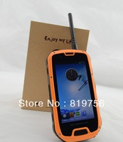 4.3inch 3g smart rugged android walkie talkie phone with GPS/PTT/MP3/FM/WIFI function