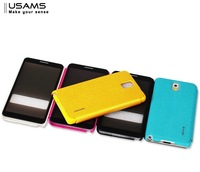 for samsung galaxy note 3 n9000 leather case with full window flip cover