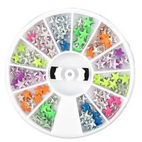 1PCS Wheel Colorful Star Shape Rivet Metal Nail Decorations Q23 Free Shipping