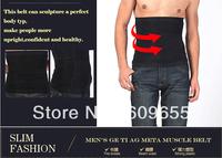 Free Shipping Wholesale 100pcs/lot s Men's Bodyshaper Meta Muscle Belt Low Waist Slimming Underwear
