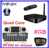 { RF500 air mouse keyboard } MINIX NEO X7 MINI TV Box RK3188 Quad Core Andriod 4.2.2 Bluetooth 2GB RAM 8GB USB RJ45 OTG XBMC