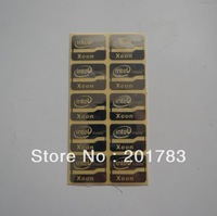 Free shipping !! NEW 10pcs Xeon metal sticker 21x16MM