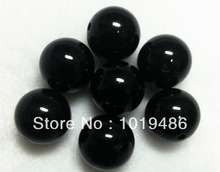 Free shipping! Black Large 20MM105pcs Big Chunky Gumball Bubblegum Acrylic Solid Beads,Colorful Chunky Beads for NecklaceJewelry(China (Mainland))