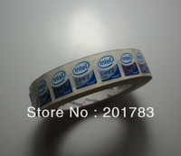 Free shipping !!NEW Original 1000pcs/roll CORE 2 DUO inside sticker 20x16MM