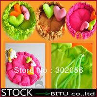 50pcs/lot Dog Cat Soft Pet Bed House Sleeping Bag Warm Cushion + Heart Pillow BG1696