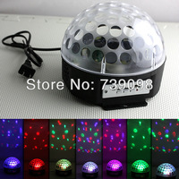 Voice-activated LED RGB Crystal Magic Ball Effect Light Disco DJ Stage Party with MP3 and Remote control