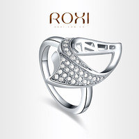ROXI  Exquisite neutral Rings platinum plated with CZ diamonds,fashion Environmental Micro-Inserted Jewelry,101003420