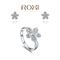 ROXI bridal jewelry Set platinum plated with AAA zircon,modelling of  rounded starfish,FREE SHIPPING,1070171524