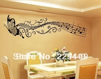 Free Shipping Black Butterfly Music Notes Wallpapers Notes Musical And Music Wall Art For Sitting And Bedroom