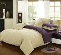 High quality plain double christmas bedding set,bedsheet set,purple bedspread,European style bed sheet,purple bedding set