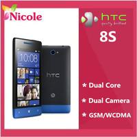Original Refurbished Unlocked HTC 8S A620e Windows 8 Mobile Phone GPS WIFI 4.0''TouchScreen 5MP camera Smart phone