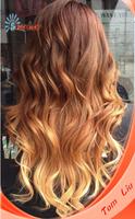 Beautiful Peruvian virgin hair loose curl texture combre color full lace wig