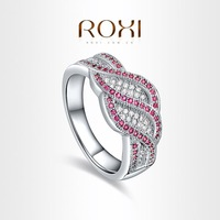 ROXI  Exquisite neutral Rings platinum plated with AAA zircon,fashion Environmental Micro-Inserted Jewelry,1010121062
