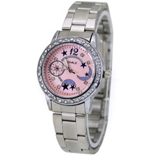 High Quality Pink Fashion Brand Jewelry Deluxe Girl Student Ladies Christmas Gift Quartz Wrist Watches, Free & Drop Shipping