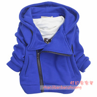 New 2014 Winter new Korean boy thick coat children's coat zipper hoodies  E3994