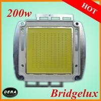 free shiping  2pcs integrate High Power 200W Light led  diode Bridgelux  led chip 200W 20000-22000lm cob chip heat sink light