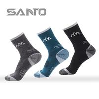 3Pairs/Lot Wool Winter Socks Santo Men thick outdoor socks (Meias De La) merino wool socks Color;Blue/Black/Grey EUR Size:39-44