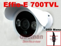 Sony EFFIO-E Exview CCD 700TVL  2pcs Aray IR Leds  Waterproof 2 ARRAY IR LED CCTV Camera with OSD Menu