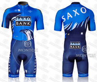 Free Shipping ! 2012 Saxo bank Cycling Skinsuit ciclismo Clothing Hot Sale !!!