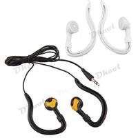 6pcs 3.5mm Earphone Headphone White Black Headset Sport Running Ear Hook  for HTC LG iPad iPod MP3 MP4 PC iPad
