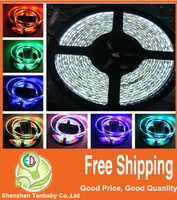 Free shipping 3528 led strip 5m RGB Light 300 60leds/m waterproof led string Lighting + 44keys control + 12V 2A 24W Power