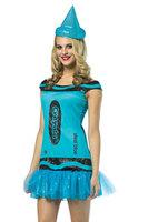 Crayola Glitz and Glitter Steel Blue International Costume 2014 New Autumn-winter Europe&America Women Fashionable Clothes