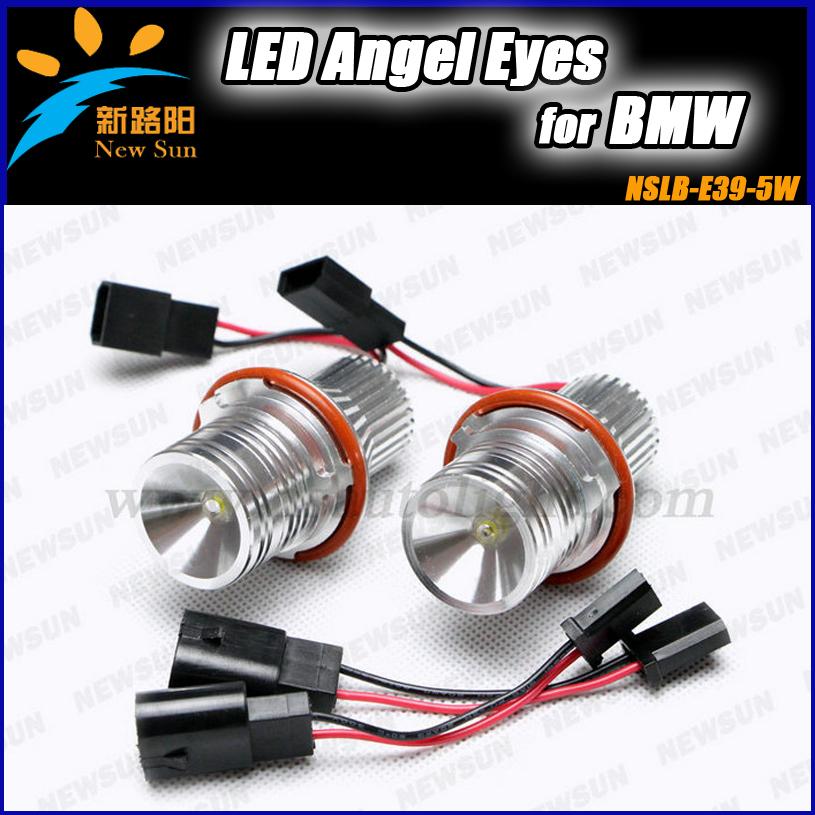 Extremely Bright 5W led marker angel eyes Auto Lamp Car Angel Eyes Bulbs for BMW 5 6 7 Series E39 E53 E63 E64 E65 E87 E60 E61(China (Mainland))