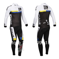 winter sports clothing !!! 2013 bulls thermal cycling jersey + cycling bib pants sets 2013 America bulls winter cycling clothing