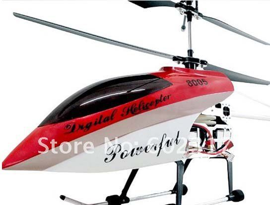 Big Deluxe 105cm 3.5ch Gyro Metal Frame QS8005 RC Helicopter with LED lights 8005 RTF ready to fly toys(China (Mainland))