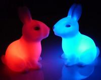1pcs Party Wedding decoration Bedroom Romantic Rabbit battery candle Lamp LED Night Light Wholesal