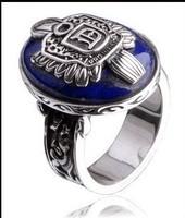 Vampire Diaries Ring Damon salvatore silver plated retro Eagles ring natural lapis lazuli ring punk style
